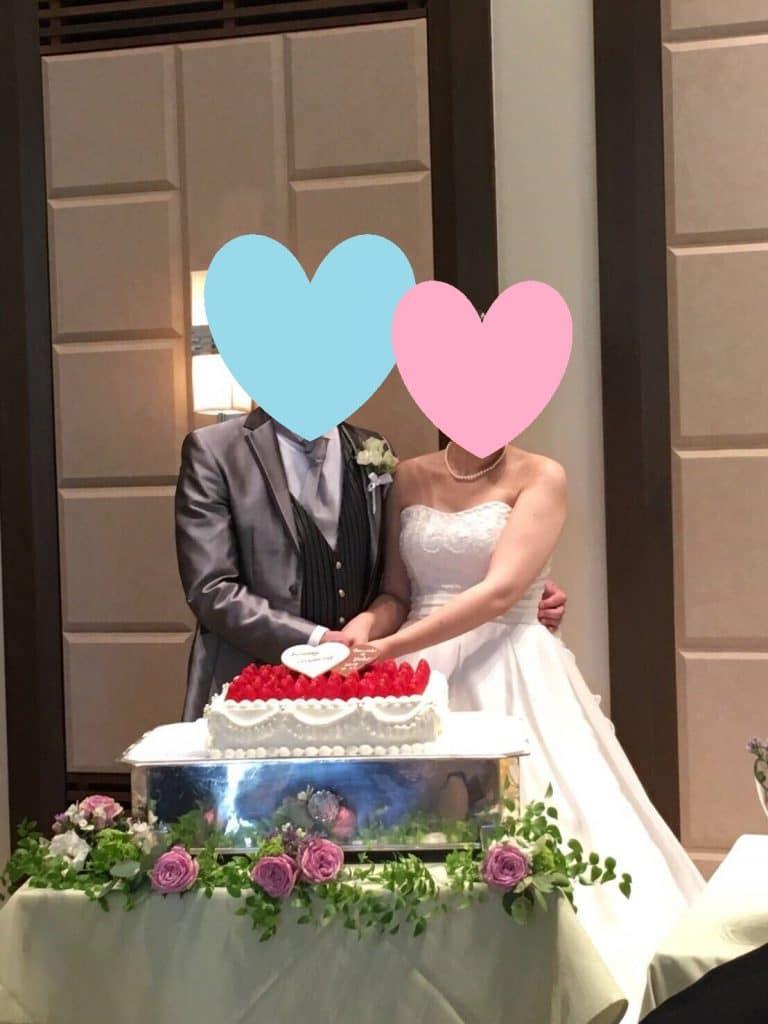新郎新婦 ケーキ