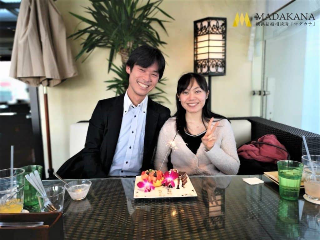 神奈川県厚木市ご在住 会社員安田さん(31歳/男性)千葉県在住の笑顔が素敵な女性とゴールイン