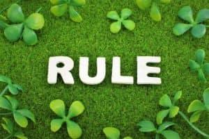 RULEの文字